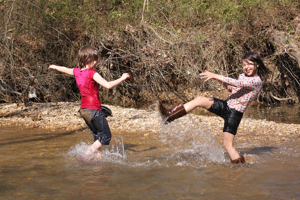 Splashing in the Creek