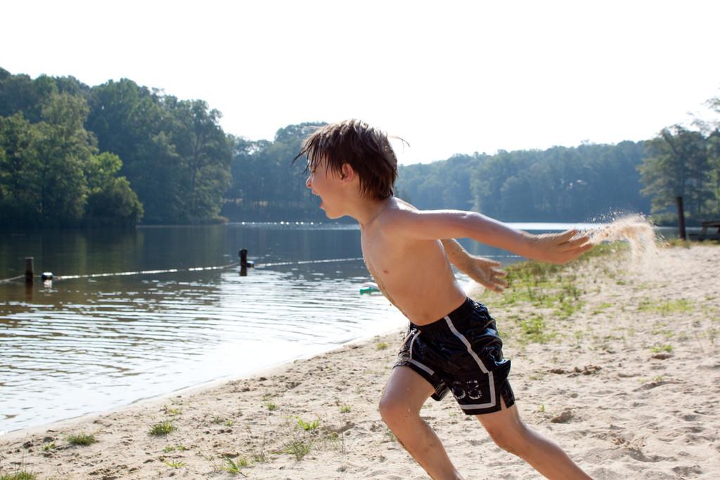 Playing at the Lake