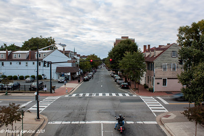 Lafayette Boulevard, Fredericksburg, Virginia and Motorcycle