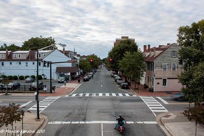 Lafayette Boulevard, Fredericksburg, Virginia and Motorcycle