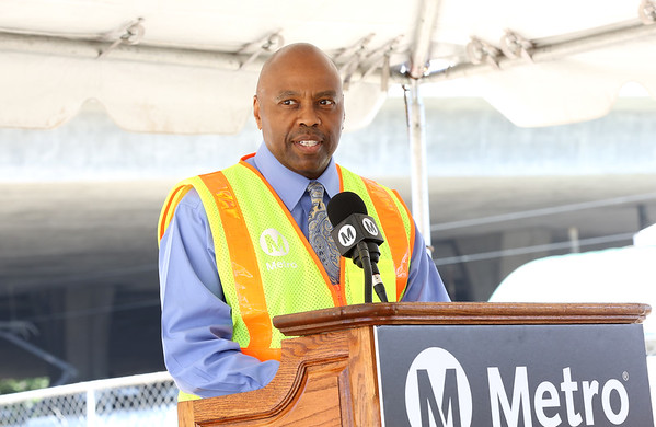 Metro CEO Phil Washington at Willowbrook/Rosa Parks Station Improvement Project launch event, Aug. 23, 2018