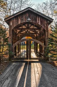 NC Covered Bridge Home Entrance