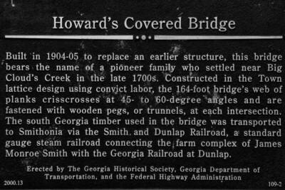 Howard's Bridge Sign - Smithonia, GA