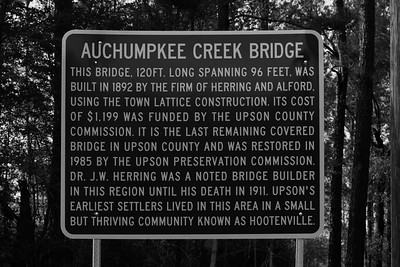Auchumpkee Bridge Sign - Thomaston, GA