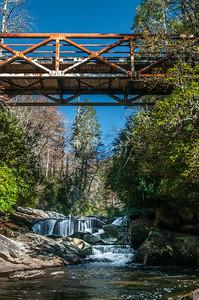 The Iron Bridge  Downstream