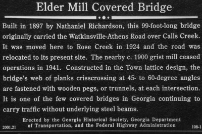 Elder Mill Bridge Sign - Watkinsville, GA