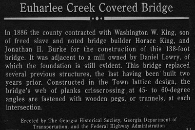 Euharlee Creek Bridge  Sign - Euharlee, GA