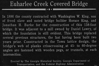 Euharlee Creek Bridge  Sign - Euharlee, GA