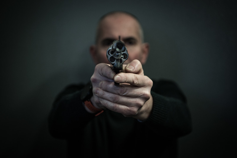 """February 23, 2018 An officer of the National Proof House in Gardone Val Trompia, Italy. The National Proof House is a public body active at international level that certifies the conformity of firearms and ammunition to the technical and legal standards for safety. It can be considered the """"Registry Office"""" of all weapons produced."""