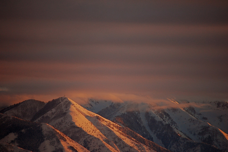 Winter Scene with Evening Light