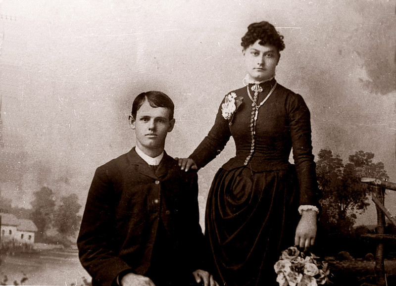 Raleigh Gray and his first wife, Charlotte Magnolia (Yockey) Gray, married on 11 January 1888. She died in childbirth on 25 November 1888.
