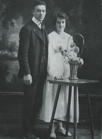 Carl & Lizzie Haderlie Wedding day 1917