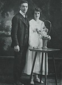 Carl & Lizzie Haderlie Wedding day 1917