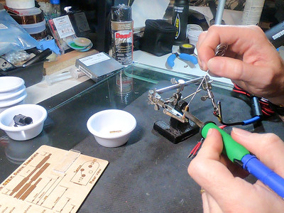 Filling contact with solder