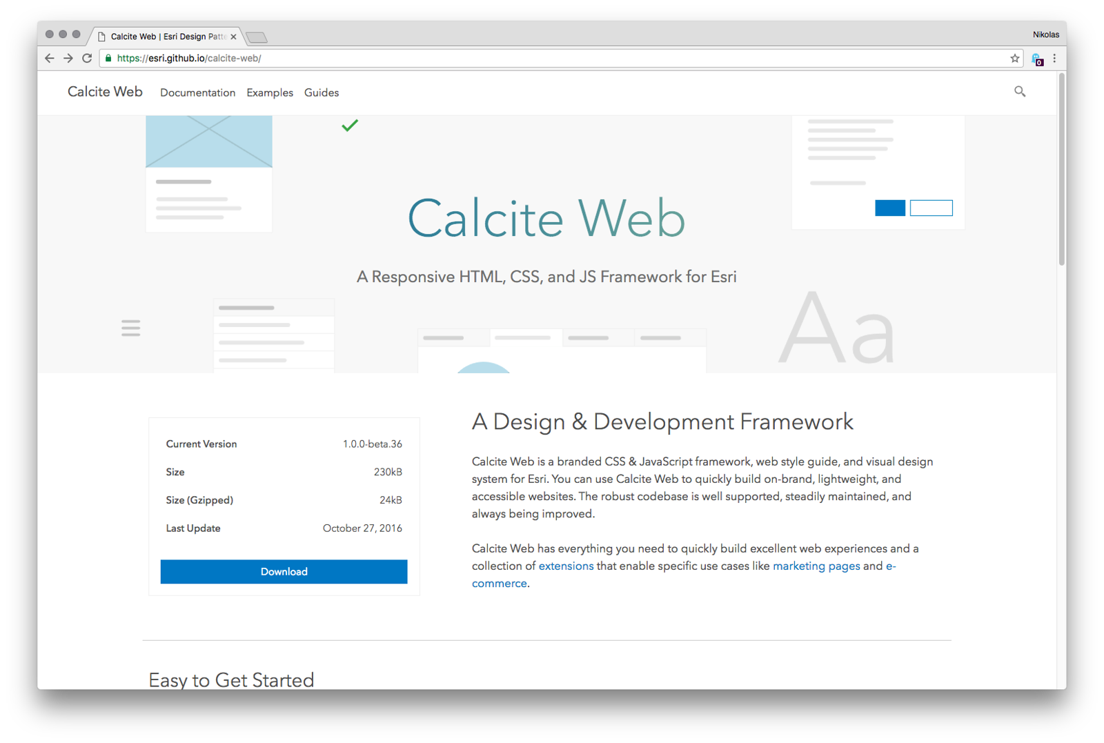 Calite Web Homepage