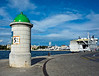 t12-02 December thumbnail<br /> <br /> Zadar, Croatia (Old Town)<br /> Kiosk (beacon?) and ferry.