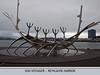 Sun Voyager,  by artist Jon Gunnar Arnason.  A representation in metal of a skeletal viking ship.