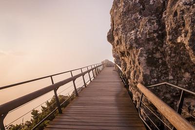 Table Mountain - misty walkway