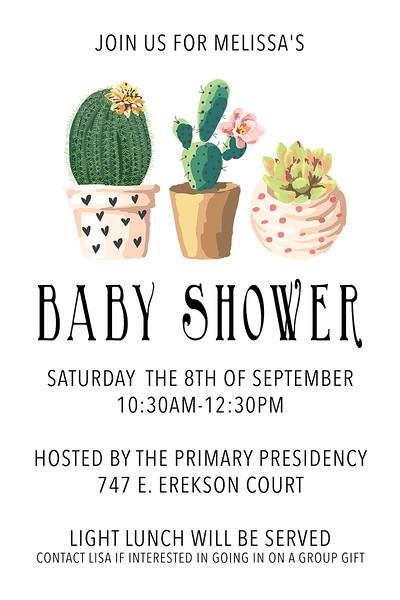Melissa Drake Baby Shower