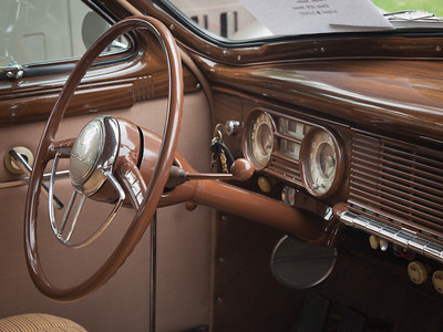 1940 Packard, interior