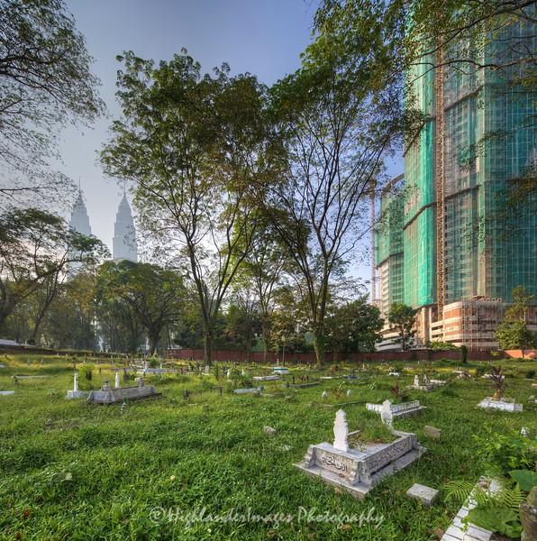 Stitched Panorama Kampung Baru Muslim Cemetery, Kuala Lumpur