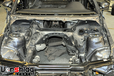 ... Brake Booster, ABS Module, Brake Hard Lines, And All Sorts Of Plastic  Panels Were Removed And Scrapped. At This Point The Engine Bay Was Mostly  Stripped ...