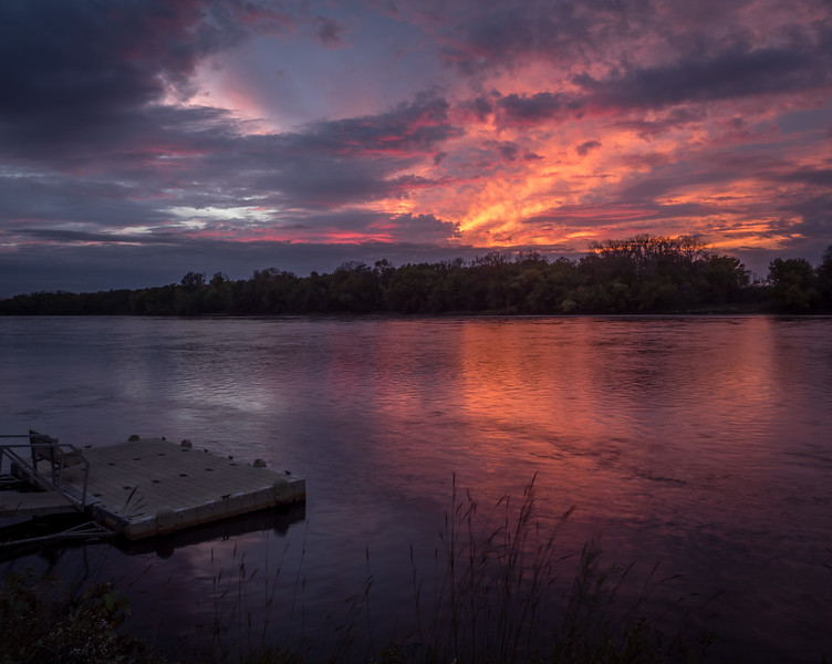 Sunset On the Chippewa River At Durand