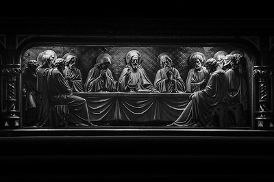 St Lawrence -010 Last Supper (B&W)