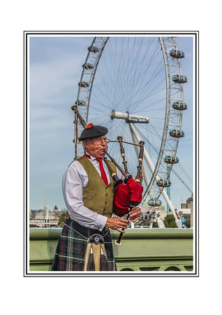 Bagpipe Player, London