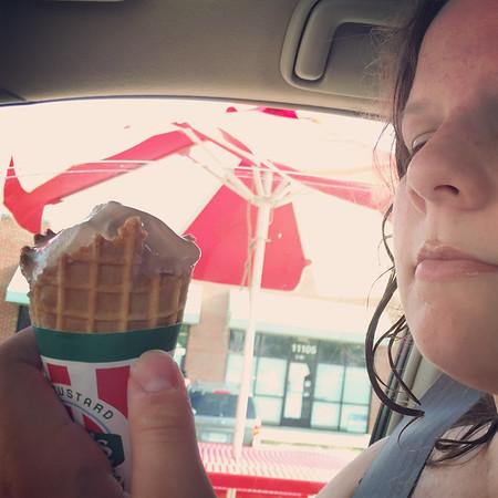 {Waffle Cone} from Rita's Italian Ice