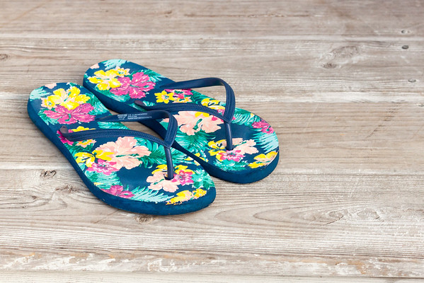 My {Tropical Print} Flip Flops