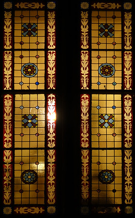 358 (365) Stained glass window