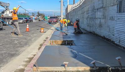 Civil work along Crenshaw Boulevard