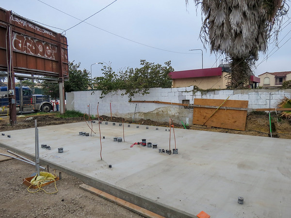 Auxiliary Building installation, Crenshaw & 60th