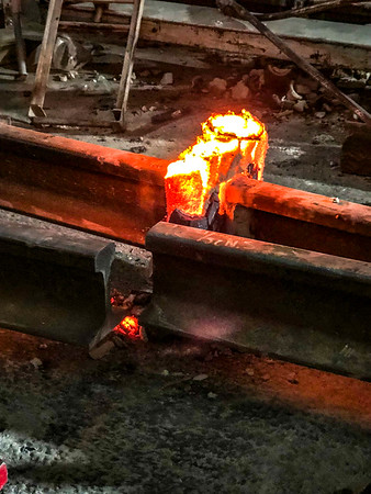 Exothermic Welding at Expo/Crenshaw Station - Excess metal cooling