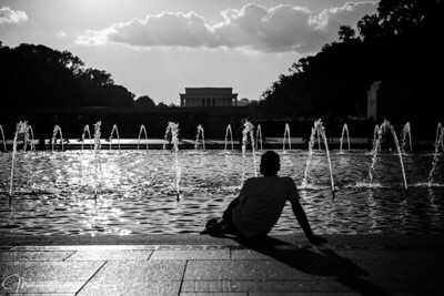 Reflecting at the WW2 Memorial