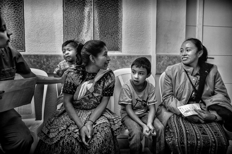 Waiting for patient screening. Moore Pediatric Surgery Center, Guatemala City. From Dell Children's Surgical Global Outreach 2012