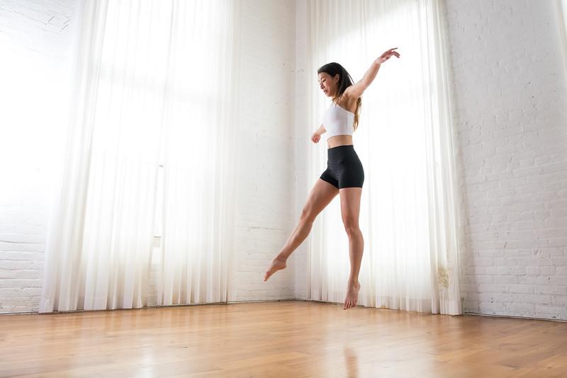 Dancer in studio