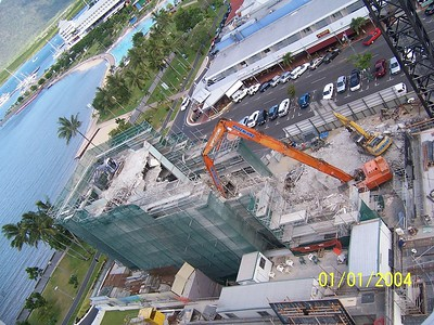 AERIAL VIEW OF PROJECT TWO WEEKS BEFORE COMPLETION