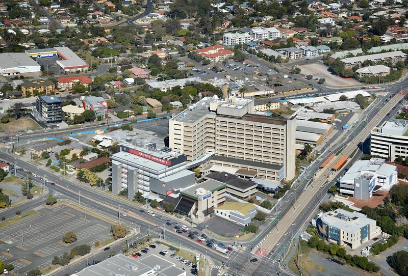 Gold Coast Hospital - ULTRA High Reach Demolition methodologies. Southport, Gold Coast Australia 2015.