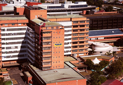 Ariel View of Princess Alexander Hospital in Brisbane before Demolition commenced.