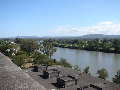 View of the Brisbane River from the top of the Tennyson Power Station
