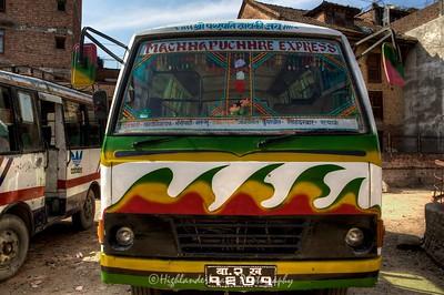 Decorated bus at Bungamati.