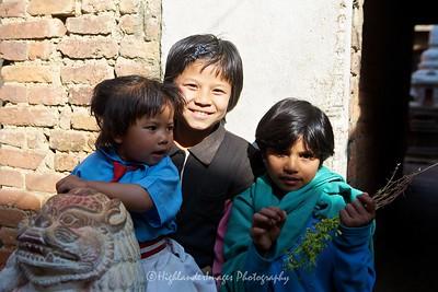 Local children in Bungamati.