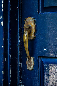 St Lawrence - 048  Blue Door - Quebec City, Canada