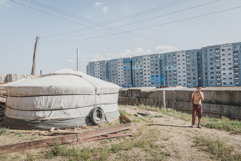 Mongolia, Ulan Bator, 2019. Ulaanbaatar is growing rapidly, and there are plans to build high-rise homes for those living in the ger districts. But many residents don't want to leave their traditional homes.