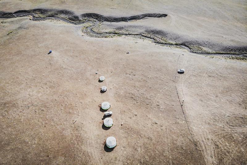 Mongolia, Gobi, 2019. A dry river in the Gobi desert.