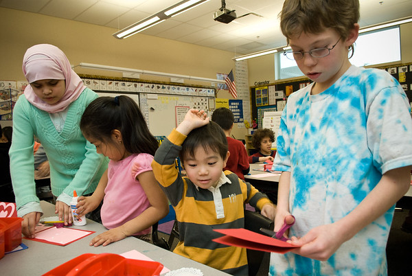 Elementary and Kindergarten students, Bellevue Washington