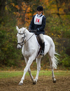 A participant at an equestrian event at Hitchingpost Farm in South Royalton, Vermont