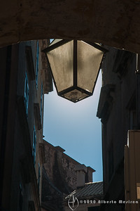 lantern above passageway